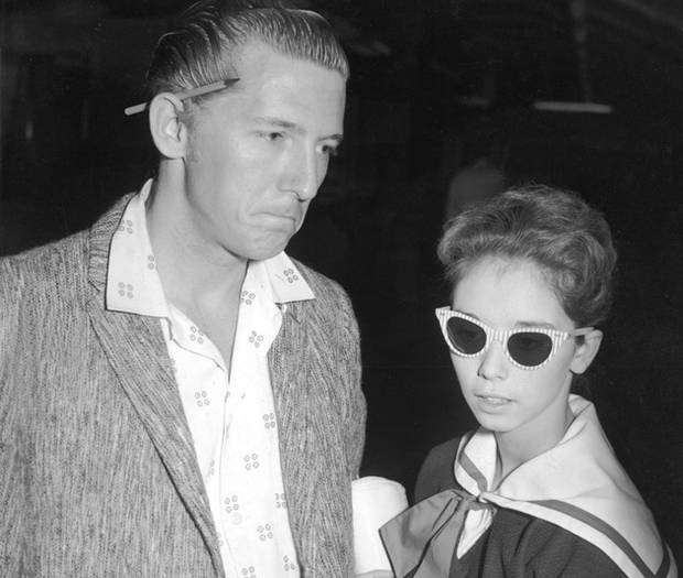 Jerry Lee Lewis et sa cousine Myra Brown