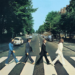 La pochette de l'album Abbey Road des Beatles