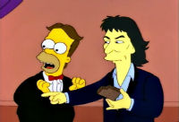 Homer Simpson et George Harrison