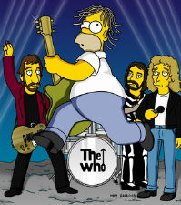 Homer Simpson et les Who