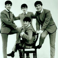 Les Beatles jeunes en 1962, Lennon, Mc Cartney, Harrison et Starr