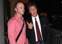 Paul McCartney et son fils James McCartney